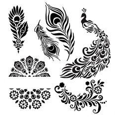 рисунки трафареты узоры свадебные - Поиск в Google