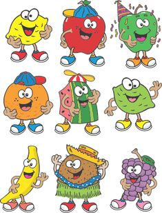Funny Cartoon Clip Art Free | Funny Fruit Character | Cartoon Fruit Image | Clip Art