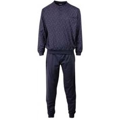 Kleine lichtende puntjes op donkere heren pyjama met kleur Total Eclips -