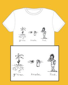 Grow Trade Live Tshirt by moonartdesign on Etsy, $20.00