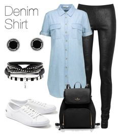"""Denim shirt"" by keila-87 on Polyvore featuring moda, Rick Owens, Lacoste, Equipment e Marc Jacobs"