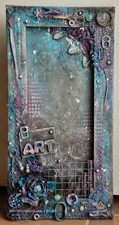 L& du mixed média - Astréor Mixed Media Canvas, Mixed Media Collage, Collage Art, Altered Canvas, Altered Art, Pop Art Bilder, Mixed Media Techniques, Junk Art, Assemblage Art