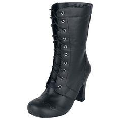 """T.U.K. Stiefel """"Black Girly Boot"""" Frauen schwarz - jetzt kaufen! EMP 79,99"""