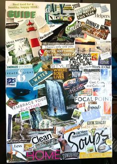 How to Create a Vision Board in 5 Easy Steps - Mom Loves Baking Bullet Journal Vision Board, Portfolio Book, Portfolio Layout, Retro Logos, Vintage Logos, Creating A Vision Board, Study Motivation, Motivation Boards, Visualisation