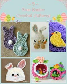 5 Free Easter Inspired Crochet Patterns via Hopeful Honey
