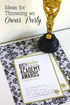 Ready for an evening trip to Hollywood -- from home? Enjoy these Oscar party ideas! Plus, here's a delicious Queso Dip recipe! Movie Night Party, I Party, Party Time, Party Ideas, Fun Ideas, Oscars, Party Like Gatsby, Red Carpet Party, Hollywood Party