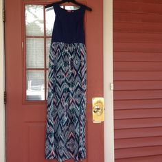 Xhilaration Maxi High Low Dress Cute and perfect for summer, dress up this Xhilaration maxi dress with a statement necklace for evening. Only wore once! Size M, just like new. Xhilaration Dresses High Low
