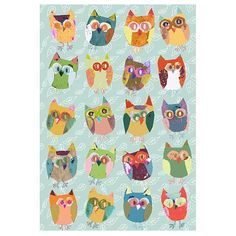 Owls decor quirky birds art print 8 x 10 print by OzscapeDesigns, $20.00