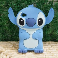 Blue 3D Stitch Silicone Soft Cover Case for Apple iPod Touch 4 4G   eBay