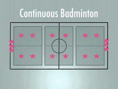 P.E. Games - Continuous Badminton