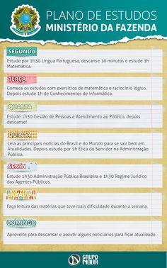 Enquanto não sai o Edital, segue Dicas com calendário de Estudados para o Concurso do Ministério da Fazenda...