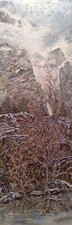 Painting Titled: Northwest Summit Artist: Heather Curry  the Federation Gallery at Granville Island, located at 1241 Cartwright Street, Vancouver, BC - Open Mon. to Sun. 10:00 AM – 4:00 PM  for more details about Oct 4th show titled A.I.R.S. 2016, please visit: www.xqzmeartanddesign.ca Granville Island, Vancouver, Curry, Sun, Landscape, Street, Gallery, Artist, Photography