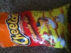 Flaming Hot Cheetos  (so good) just had some like an hour ago