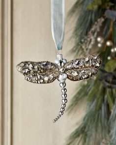 Dragonfly Christmas Ornaments Item #P123907 These delicate silver ...