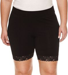 Boutique + Ashley Nell Tipton for + Jersey Soft Shorts-Plus