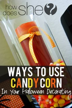 candy corn, pumpkins and spiders...oh my! #halloweendecor howdoesshe.com