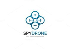 Spy Drone Logo by XpertgraphicD on @creativemarket