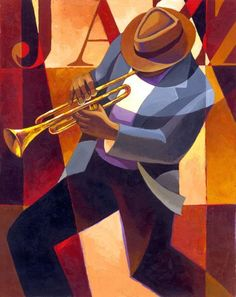 Keith Duncan Mallett born October 7 1948 is an American artist who has worked as a painter etcher and ceramic artist His subject matter ranges from figur Harlem Renaissance Artists, Jazz Painting, Jazz Art, Jazz Music, Jazz Poster, Music Illustration, Art Deco Posters, Music Artwork, Arte Pop