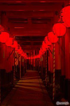 Step into a magical spirit world at the Motomiya Festival at Fushimi Inari Shrine in Kyoto