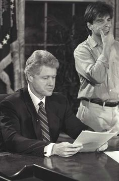 Bill Clinton and George Stephanopoulos
