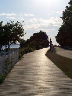 Take a walk on the board way and look at the bridge and Lake Huron...