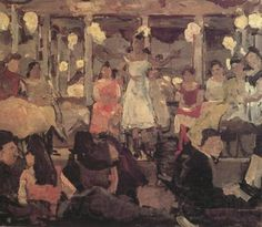 Isaac Israels ~ Cafe Chantant in a Popular Quarter in Amsterdam