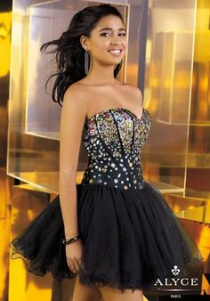Alyce Short Dress 3576 at Prom Dress Shop