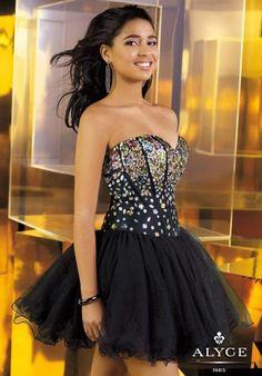Alyce Short Dress 3576 at Prom Dress Shop
