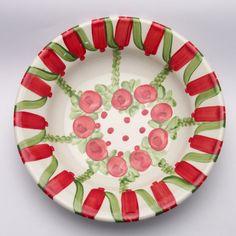 ulysses Teller, Plates, Tableware, Red, Green, Tablewares, Licence Plates, Dishes, Dinnerware