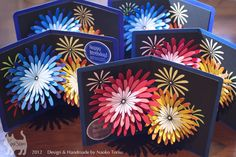 pop-up card [fireworks]  original handmade by Kagisippo(Naoko Torisu).  2012