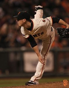 Apr 21, 2015; San Francisco, CA, USA; San Francisco Giants starting pitcher Tim Lincecum (55) with Los Angeles Dodgers