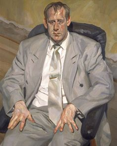 "artist-freud: "" Man in Silver Suit, Lucian Freud Medium: oil, canvas"" Sigmund Freud, Lucian Freud Portraits, Lucian Freud Paintings, David Hockney, Figure Painting, Painting & Drawing, Antoine Bourdelle, Bella Freud, Francis Bacon"