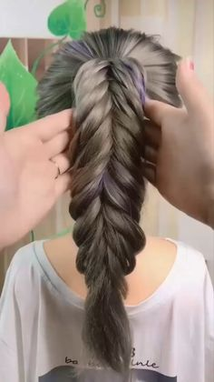 Hairstyle for Long Hair Part 1 Dyed Hairstyles Hair Hairstyle long Part Bun Hairstyles For Long Hair, Braids For Long Hair, Elegant Hairstyles, Braided Hairstyles, Hairstyles Videos, Undercut Hairstyles, Front Hair Styles, Medium Hair Styles, Hair Scarf Styles
