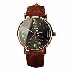 Ularma Herren Uhr Luxus Mode Kunstleder Quarzuhren Analog Armbanduhr mit Nachtleuchtende 327 Schwarz - http://uhr.haus/ularma/ularma-herren-uhr-luxus-mode-kunstleder-analog-4