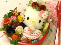rose hello kitty bento