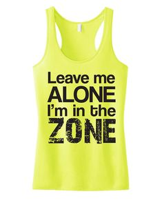 Leave ME Alone Tank Top #Workout Clothing by NobullWomanApparel, $24.99 on Etsy. #Crossfit #Gym