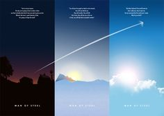 Inspiring Fan-Made MAN OF STEEL Triptych Posters - News - GeekTyrant