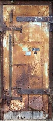 "Metal rusty door wrap Mill City Museum ""Real Door"""