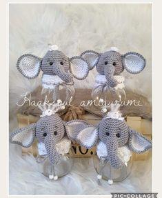 Crochet Jar Covers, Crochet Mug Cozy, Crochet Elephant, Jar Lids, Crochet Dolls, Design Elements, Projects To Try, Crochet Patterns, Bee