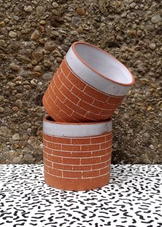 brick tumbler | Josephine Heilpe