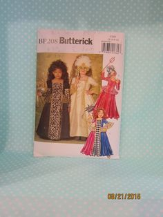 Halloween Girl's Costume Pattern. Butterick BP208. Butterick 4887. SOLD. Marie Antoinette, Masquerade. 16th Century. Cheap Pattern. Cheap shipping. by FashionSew on Etsy