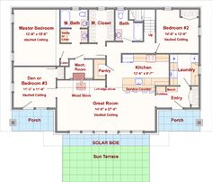 Passive Solar House Plan With Bonus Loft