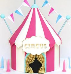 girly carnival cake