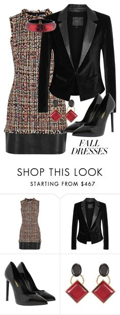 """Fall"" by debatron ❤ liked on Polyvore featuring Alexander McQueen, Paige Denim, Yves Saint Laurent, Marni and Alexis Bittar"