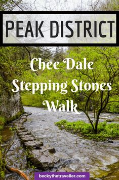 Easy Peak District walk in Chee Dale walk in the Peak District. Includes Chee Dale Stepping Stones, route, map and directions for this Peak District walk. Hikes in the Peak District. #Orkneyology.com #peakDistrict