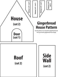 gingerbread house pattern - Google Search