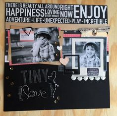Tiny Love Layout- Dee Dee Roe- Front Porch Kits- The Greatest of these is Love