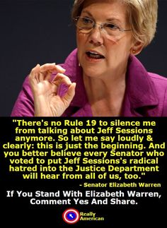 Comment Yes And Share If You Support Elizabeth Warrens Stand Against Corruption In Trumps Administration