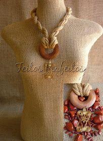 Jewelry Knots, Scarf Jewelry, Clay Jewelry, Jewelry Crafts, Jewelry Art, Fiber Art Jewelry, Textile Jewelry, Fabric Jewelry, Recycled T Shirts