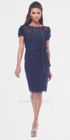 Simple Lace Cocktail Dresses by NUE at eDressMe